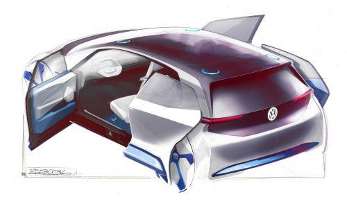 Volkswagen EV concept previewed ahead Paris debut