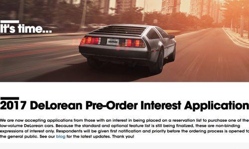 2017 DeLorean DMC-12 pre-orders open