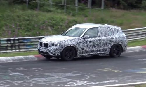 2018 BMW X3 spotted again at Nurburgring, pushed hard (video)