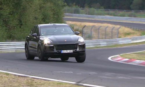 2018 Porsche Cayenne spotted, hides new underpinnings (video)