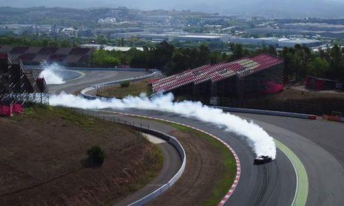 Video: Vaughn Gittin Jr does massive drift at Catalunya circuit