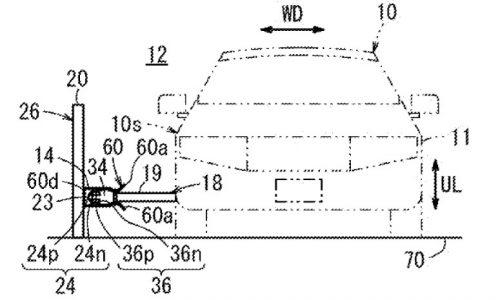 Honda patents strange new on-the-go EV charging system