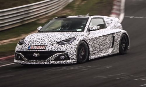 Hyundai RM16 mid-engined Veloster spotted, to go on sale? (video)