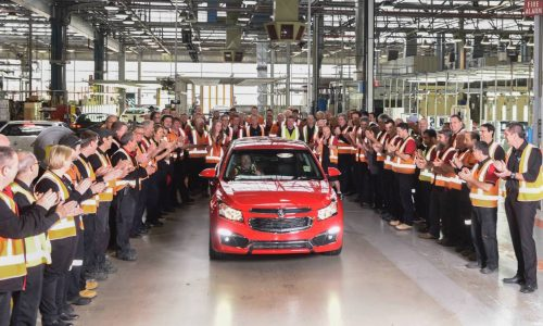 Australian Holden Cruze production comes to an end