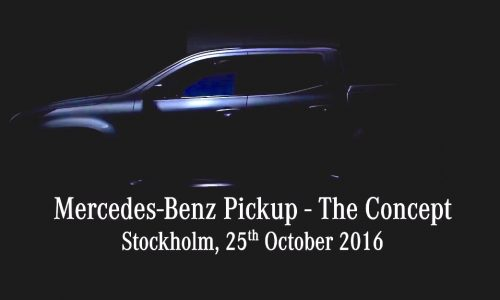 Mercedes-Benz pickup concept confirmed for October 25