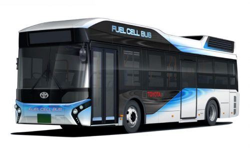 Toyota finalises its first hydrogen fuel cell bus, sales start early-2017