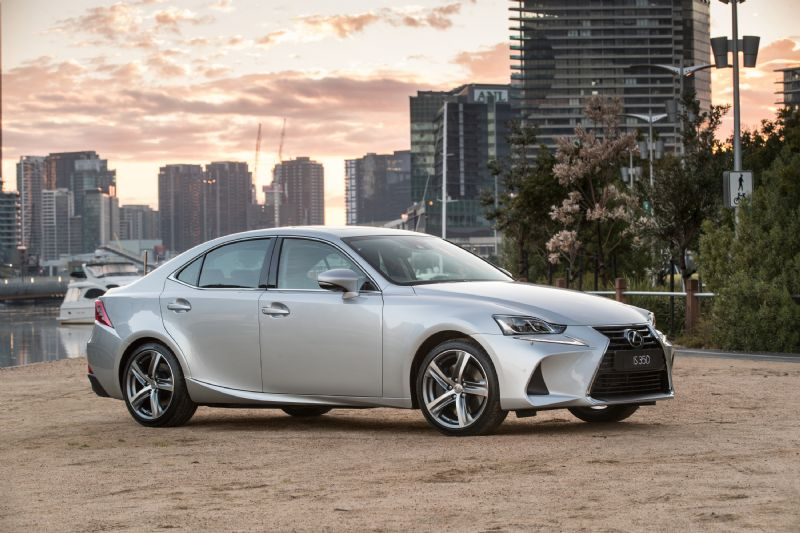 2017 lexus is 200t  350  300h now on sale  revised design  more standard kit