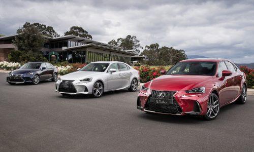 2017 Lexus IS 200t, 350, 300h now on sale; revised design, more standard kit