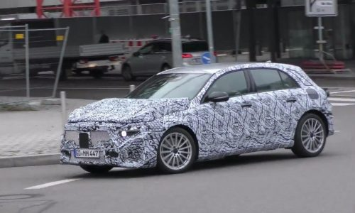 Mercedes-AMG 'A 40' spotted? New mild hot hatch (video)