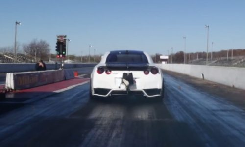 AMS Nissan GT-R sets new 1/4 mile record (video)