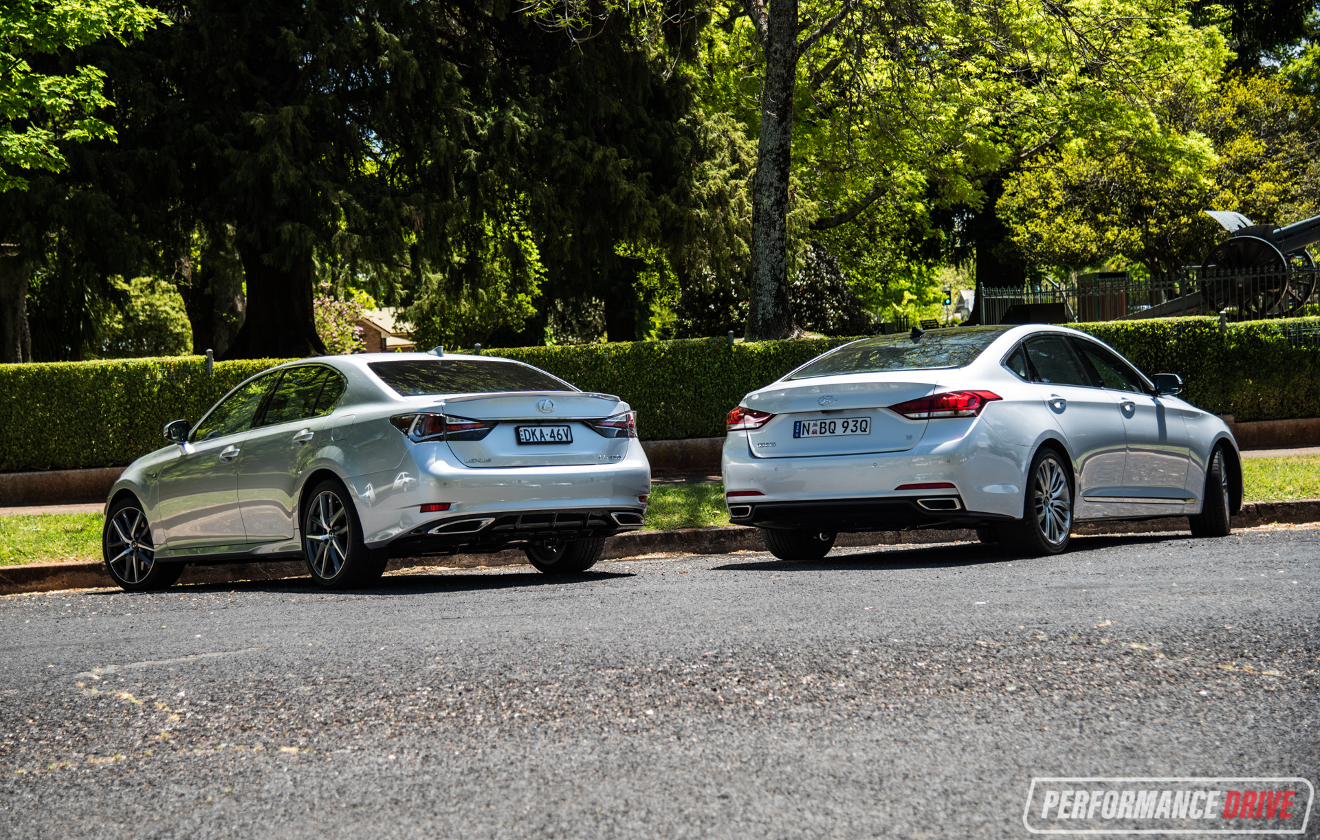 Hyundai Genesis Vs Lexus Gs 350 Rear