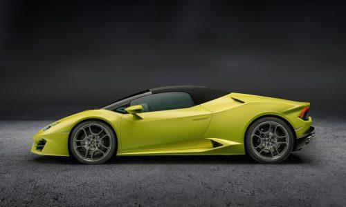 Lamborghini Huracan LP 580-2 Spyder; new RWD drop-top