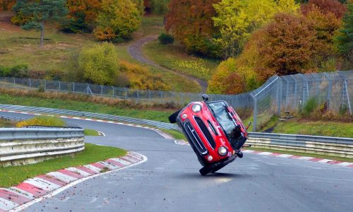 MINI Cooper laps Nurburgring on two wheels for record (video)