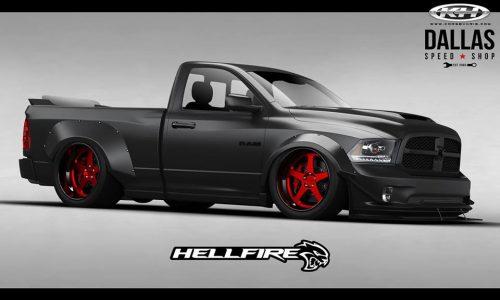 RAM 1500 Hellfire concept hits SEMA, features 527kW Hellcat engine