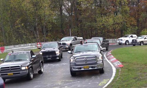 1152 Ram trucks parade Nurburgring to set new record (video)