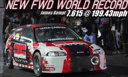 Insane 1380kW Honda Civic breaks FWD 1/4 mile record (video)