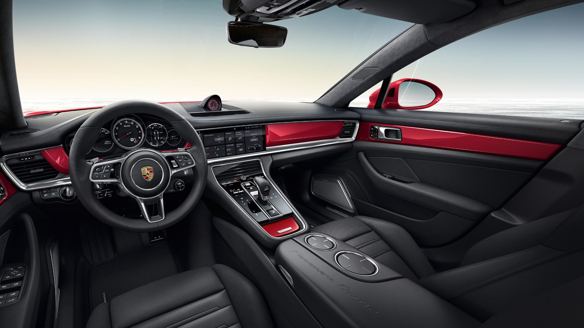 porsche reveals panamera executive with exclusive carmine red performancedrive
