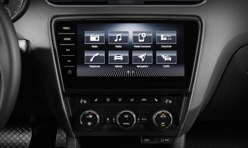 Skoda unveils flash new touch-screen for 2017 Octavia