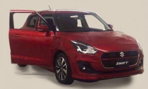 2017 Suzuki Swift spotted, reveals sharp new design