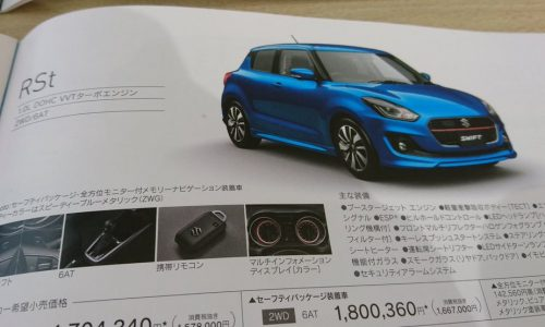 2017 Suzuki Swift leaked again, hybrid & RS turbo confirmed