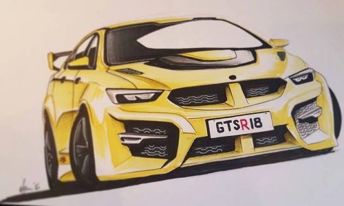 2018 HSV GTS rendered, based on new Holden NG Commodore