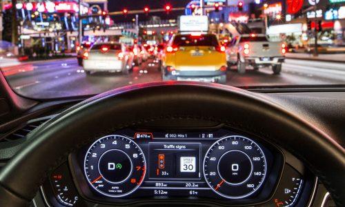 Audi debuts on-board traffic infrastructure communication tech