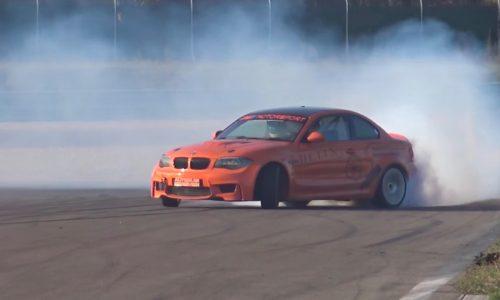 BMW 1 M Coupe gets M5 V10 conversion, insane drifting power (video)