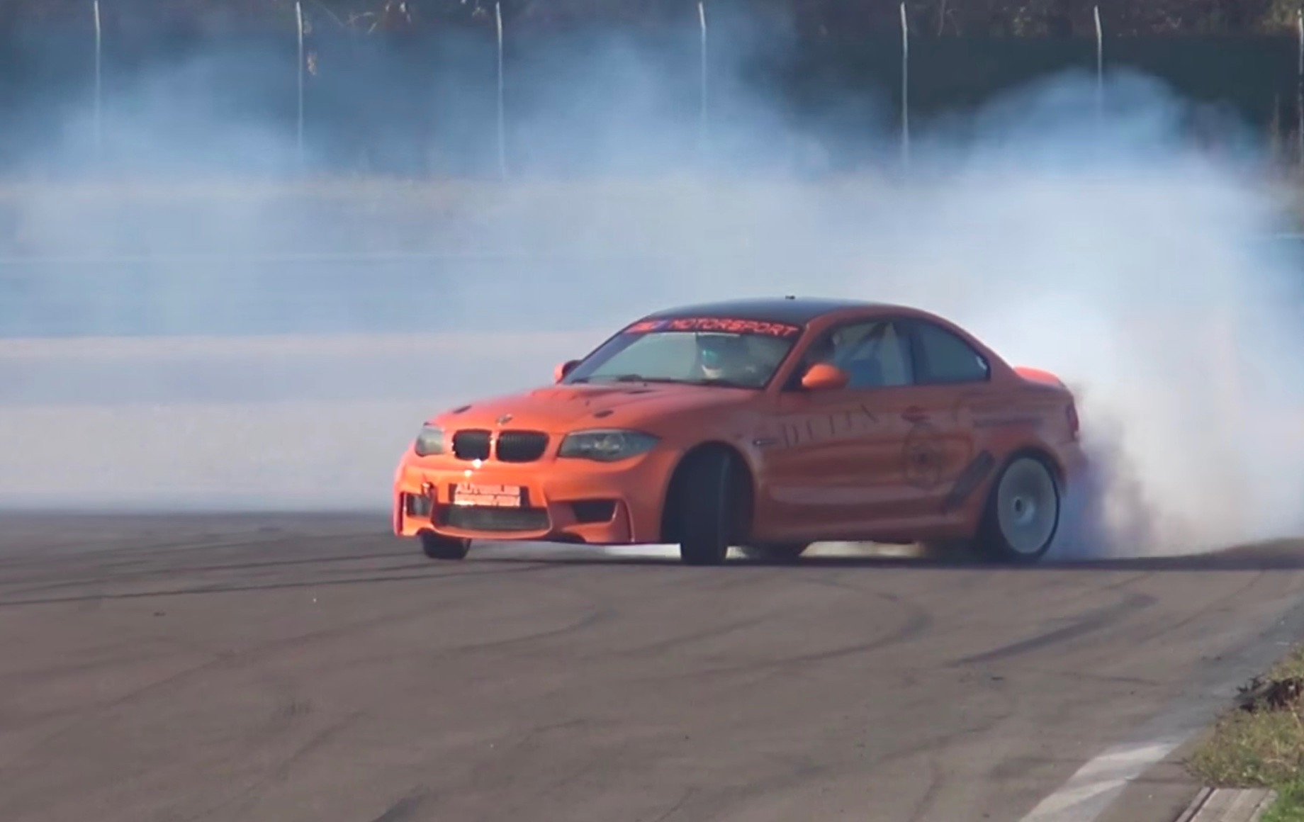Bmw 1 M Coupe Gets M5 V10 Conversion Insane Drifting Power Video Performancedrive