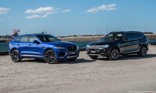 2016 Jaguar F-PACE 30d vs BMW X3 xDrive30d: comparison (video)