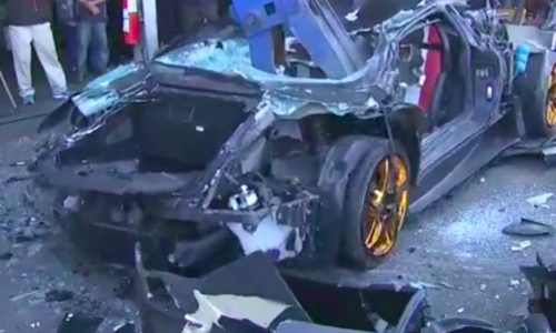 Lamborghini Murcielago destroyed by authorities in Taiwan (video)