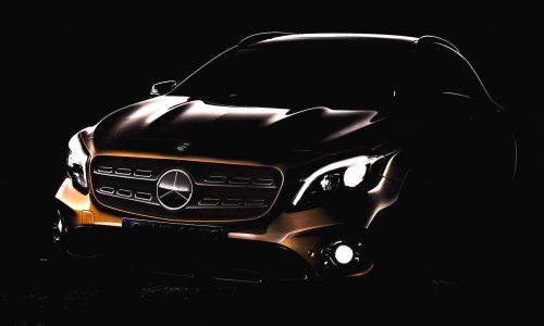 2017 Mercedes-Benz GLA facelift previewed before Detroit debut