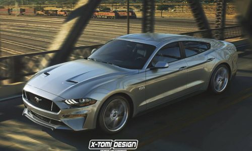 Ford Mustang four-door rendered, seems like a good idea?