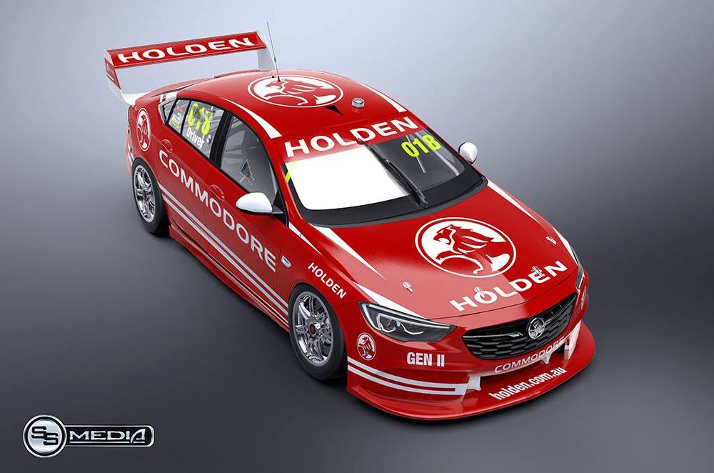 2018 Holden Commodore V8 Supercar Supercar Rendered Performancedrive