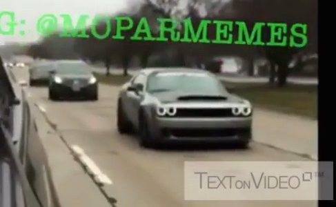 Dodge Challenger SRT Demon spotted on the street (video)