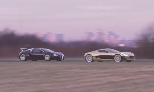Video: Rimac One vs Bugatti Veyron in drag race