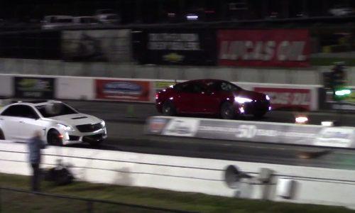 Tesla Model S P100D sets new 1/4 mile record (video)