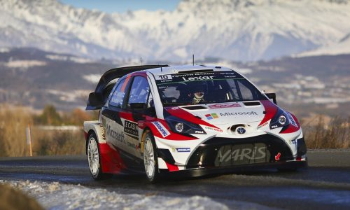 Toyota off to great start in 2017 WRC, 2nd at Rallye Monte Carlo