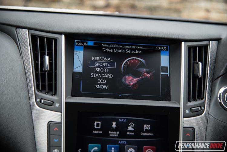 2017 Infiniti Q50 Silver Sport-drive mode