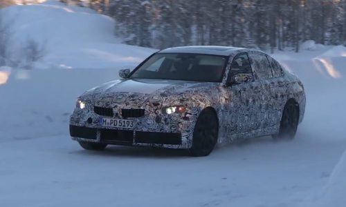 2018 BMW 3 Series 'G20' spotted, based on CLAR platform (video)