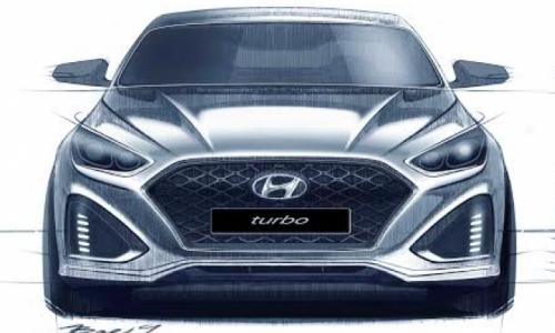 2018 Hyundai Sonata sketches show aggressive new face