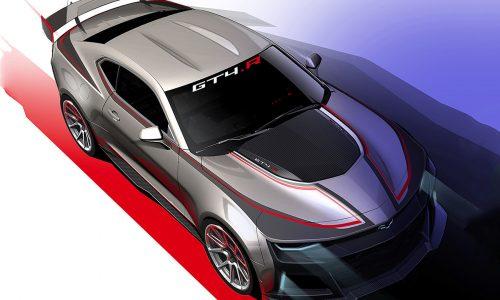 Chevrolet Camaro GT4.R sketch previews upcoming racer