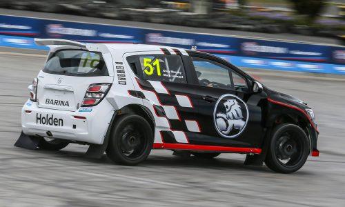 Holden Barina AP4 rally car shows promise