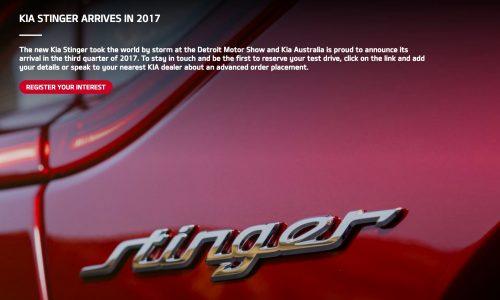 Kia Stinger arrives in Australia third quarter, 3.3TT V6 & 2.0T confirmed