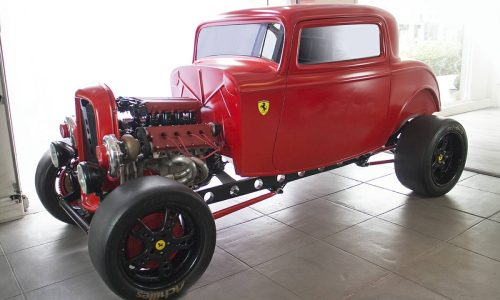 For Sale: 1930s Ford hotrod with twin-turbo Ferrari engine
