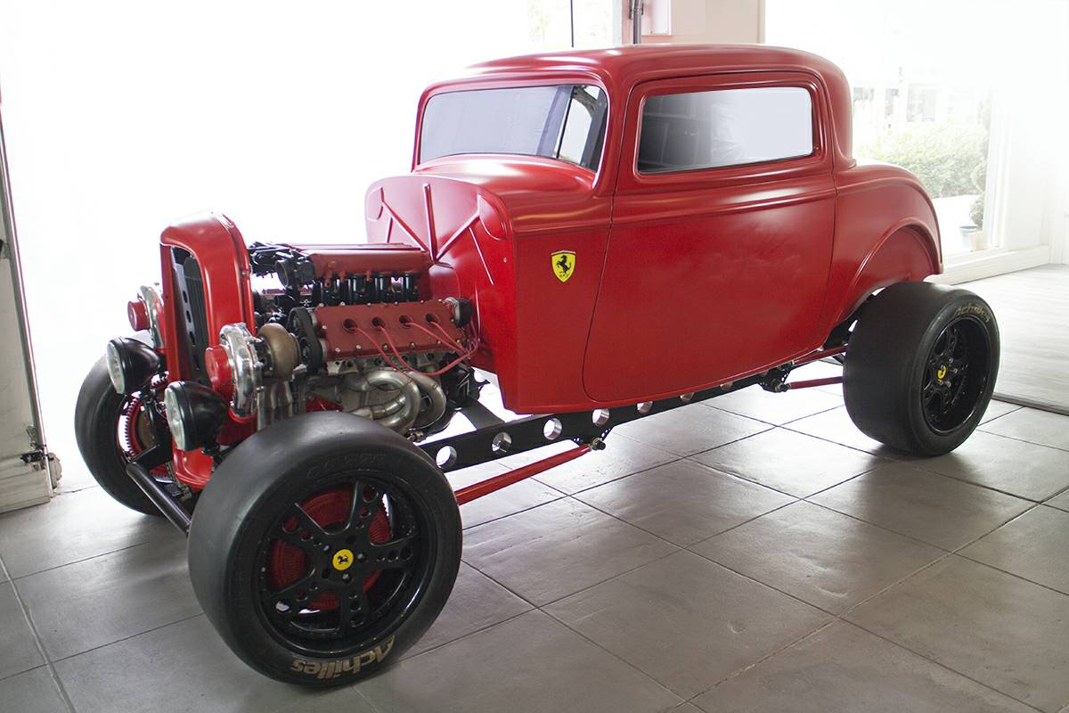 For Sale: 1930s Ford hotrod with twin-turbo Ferrari engine ...