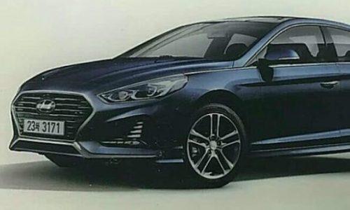 2018 Hyundai Sonata surfaces, gets new-look face