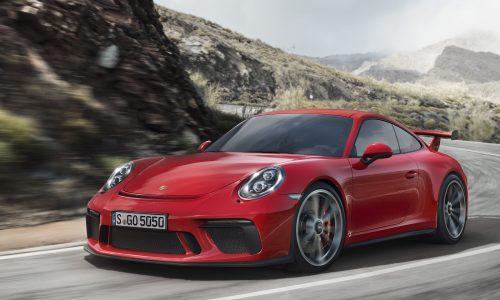 2018 Porsche 911 GT3 unveiled with 500hp 4.0L