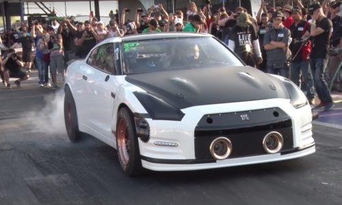 Alpha G Nissan GT-R breaks 1/4 mile world record (video)