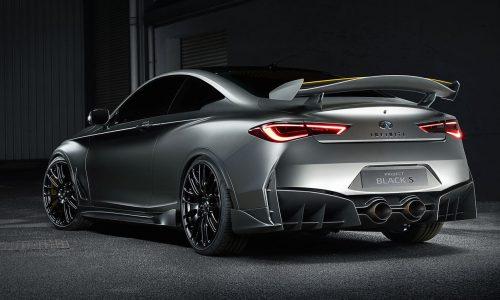 Infiniti Q60 Black S concept previews potential super coupe