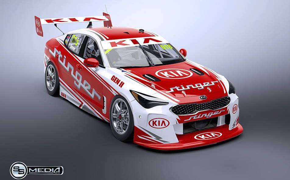 Potential Kia Stinger Australian Supercars Racer Rendered
